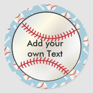 Baseball Sports | DIY Background | DIY Text Classic Round Sticker
