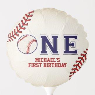 Baseball, Sports First Birthday Balloon