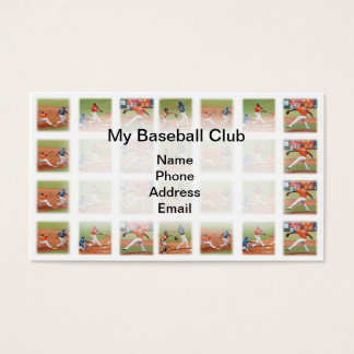 Baseball Sports Game Images Business Card