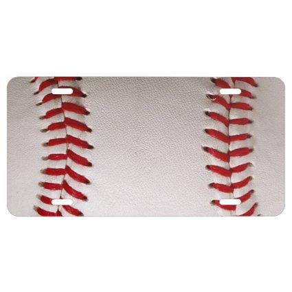 Baseball Sports License Plate