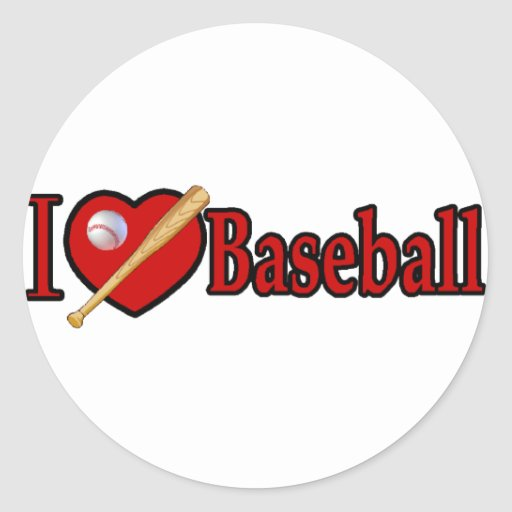 Baseball Sports Lover Gifts Round Sticker