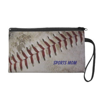 Baseball Sport's Mom Wristlet Clutch