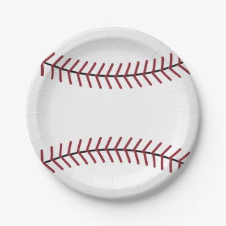 Baseball Sports Party Picnic Birthday Paper Plates