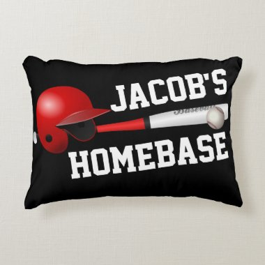 Baseball Sports Personalized Bedroom Pillow