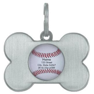 Baseball Sports Pet ID Tag