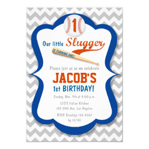 Baseball First Birthday Invitations Announcements Zazzle