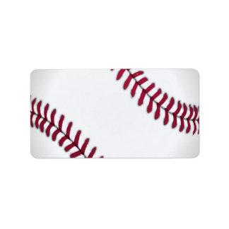 Baseball Sports Team Game Coach Ball Field Address Label