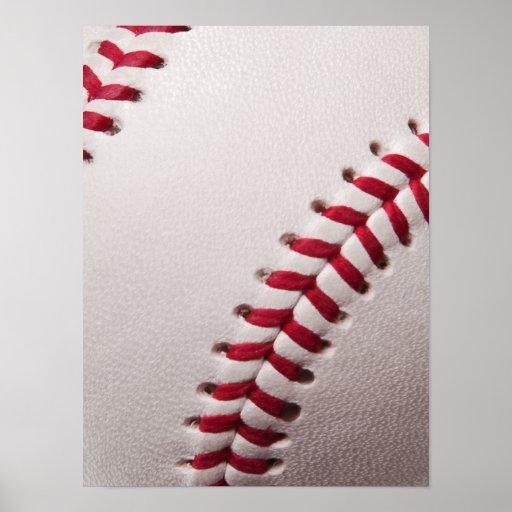 Baseball - Sports Template Baseballs Background Poster