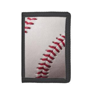 Baseball - Sports Template Baseballs Background Tri-fold Wallets