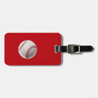Baseball - Sports Template Baseballs on Red Luggage Tag