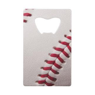 Baseball Sports Template Personalized Baseballs Credit Card Bottle Opener