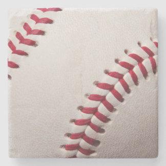 Baseball Sports Template Personalized Baseballs Stone Beverage Coaster