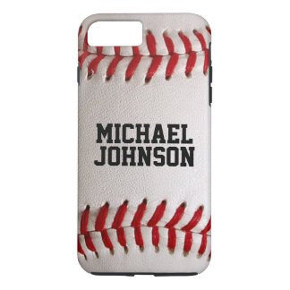 Baseball Sports Texture with Personalized Name iPhone 7 Plus Case