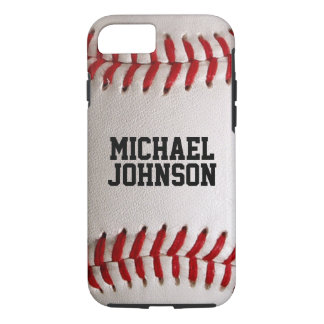 Baseball Sports Texture with Personalized Name iPhone 8/7 Case