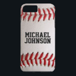 "Baseball Sports Texture with Personalized Name iPhone 8 Plus/7 Plus Case<br><div class=""desc"">Spring Training or post season you always need a new Baseball.  Personalized Name Baseball Sports Texture.  A macro photograph of a brand new Baseball with red stitching.  Perfect gift for the baseball freak or sports fanatic.  Photograph by Travis L. Lagasse of Flowstone Graphics.</div>"