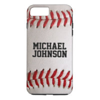 Baseball Sports Texture with Personalized Name iPhone 8 Plus/7 Plus Case