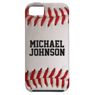 Baseball Sports Texture with Personalized Name iPhone SE/5/5s Case