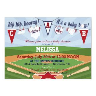 Baseball Sports Themed Baby Shower Card
