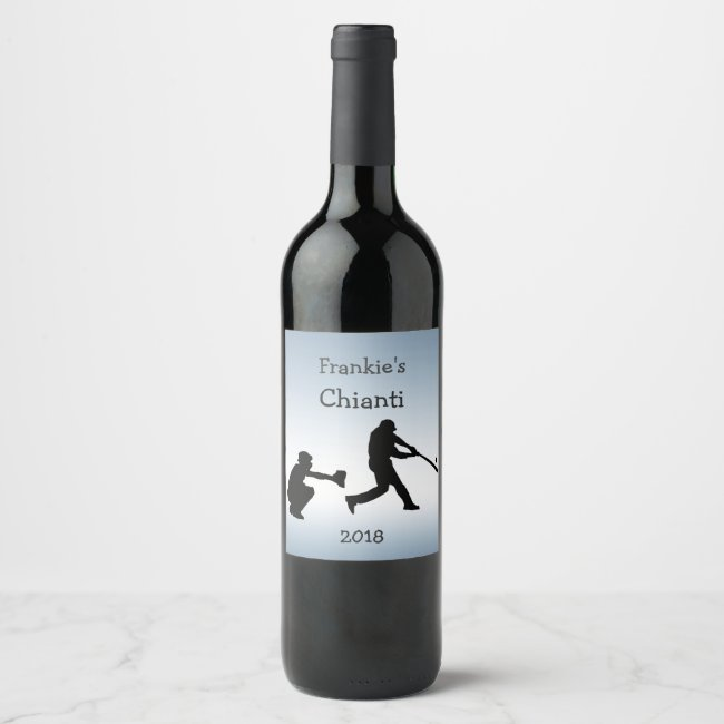 Baseball Sports Wine Blue Label