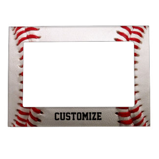 baseball sports with customizable name magnetic photo frame