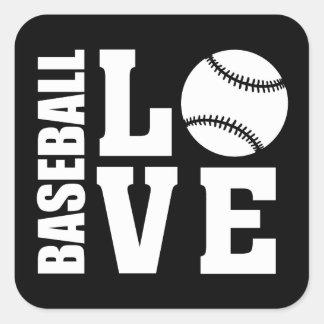 Baseball Square Sticker
