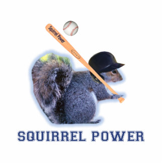 Baseball Squirrel Power Cutout