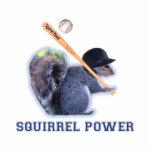 Baseball Squirrel Power Photo Sculpture Magnet