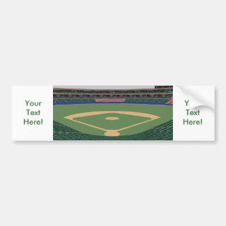 Baseball Stadium: 3D Model: Bumper Sticker