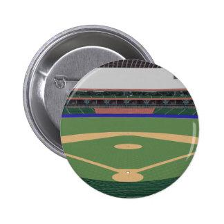 Baseball Stadium: 3D Model: Pinback Button