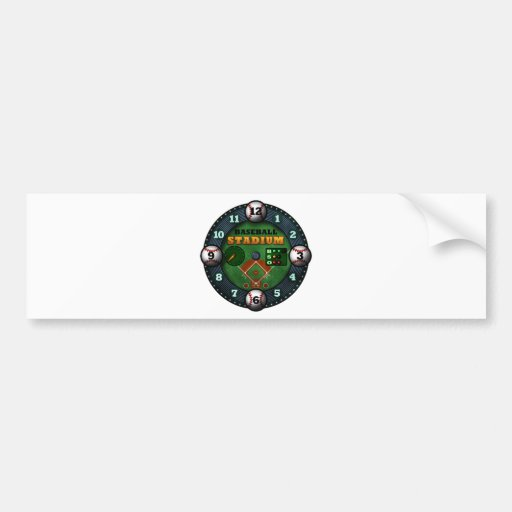 Baseball Stadium Bumper Sticker