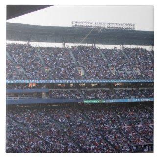 Baseball Stadium Crowd Ceramic Tile