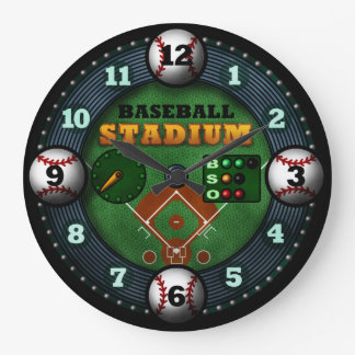 Baseball Stadium Large Clock