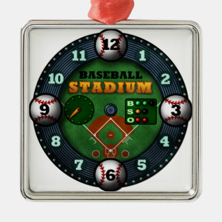 Baseball Stadium Metal Ornament