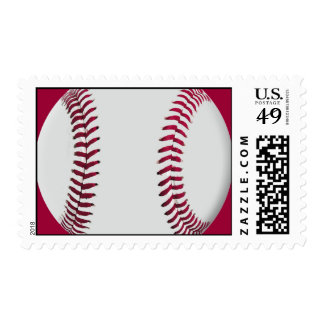 Baseball Stamps with Red Background