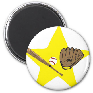 Baseball star!  Customizable: Magnet