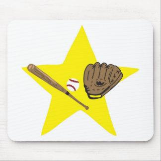 Baseball star!  Customizable: Mouse Pad