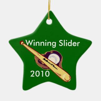 Baseball star ornament