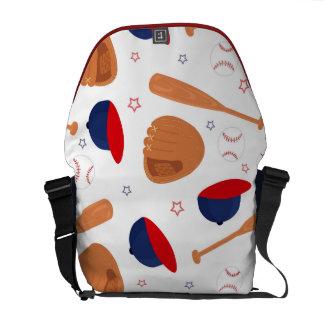 Baseball Star Pattern Messenger Bag