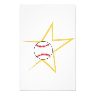 Baseball Star Stationery