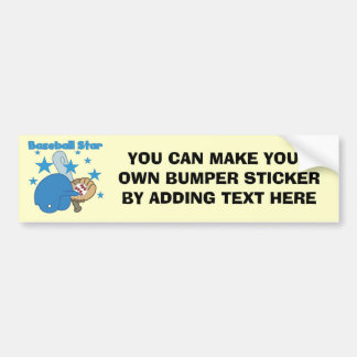 Baseball Star T-shirts and Gifts Bumper Sticker