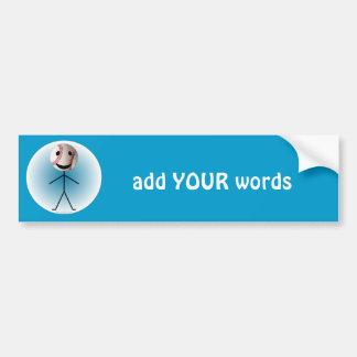 Baseball Stick Figure- add YOUR words Bumper Sticker