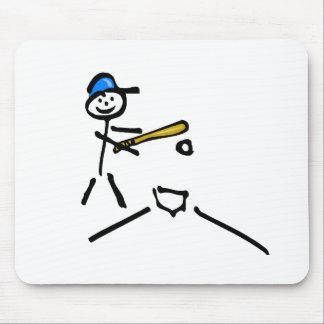 Baseball Stick Figure Mouse Pads