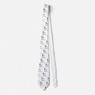 Baseball Stick Figure Neck Tie
