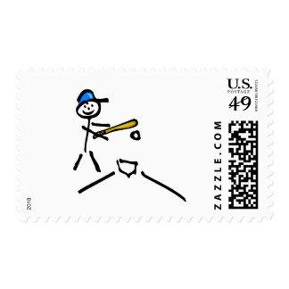 Baseball Stick Figure Stamp