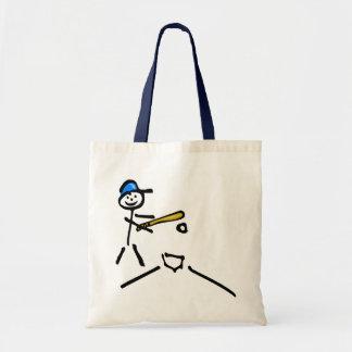 Baseball Stick Figure Tote Bag