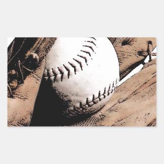 Baseball Rectangular Sticker