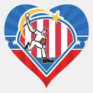 Baseball Heart Sticker