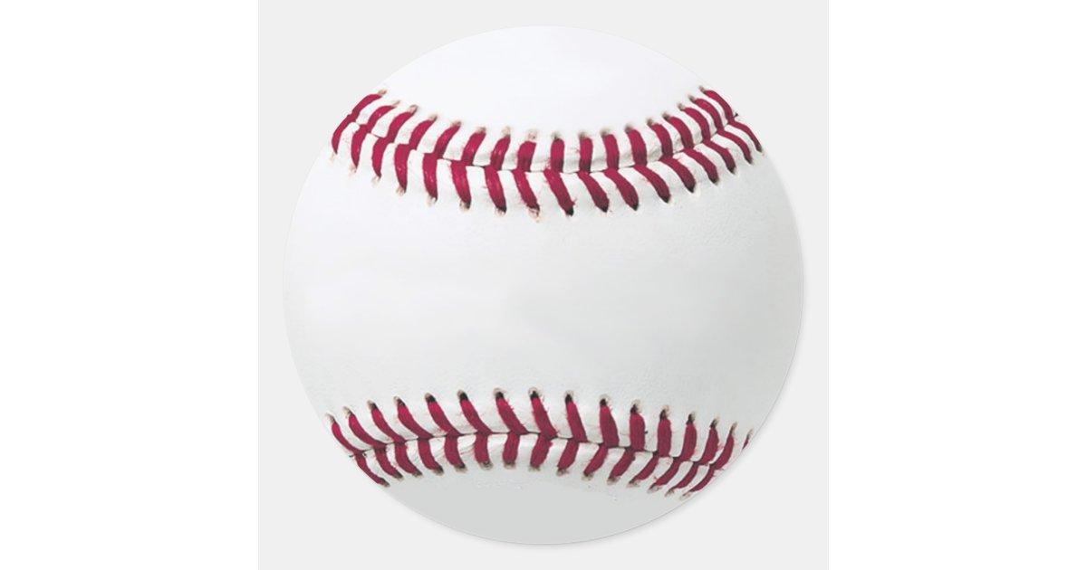 Baseball Stickers Add Your Message Zazzle Com
