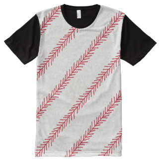 Baseball Stitch All-over Printed T-Shirt