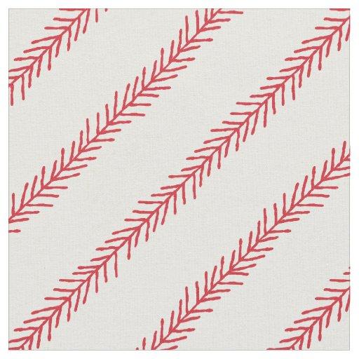 Baseball Stitch Cotton Fabric | Zazzle.com